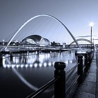Buy canvas prints of Newcastle-Gateshead Millennium Bridge, Tyne and We by Rob Cole