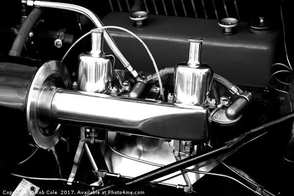 Vintage Car Engine Chrome Canvas print by Rob Cole