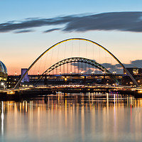 Buy canvas prints of Tyne Bridges at Sunset by Rob Cole