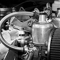 Buy canvas prints of Classic MG Sports Car Engine by Rob Cole