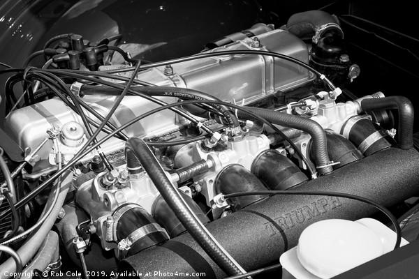 Classic Triumph TR6 Engine Canvas print by Rob Cole