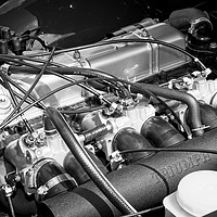 Buy canvas prints of Classic Triumph TR6 Engine by Rob Cole