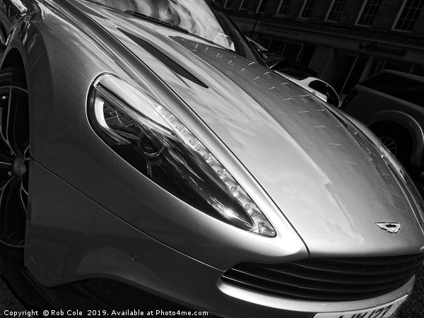Aston Martin Sports Car Print by Rob Cole