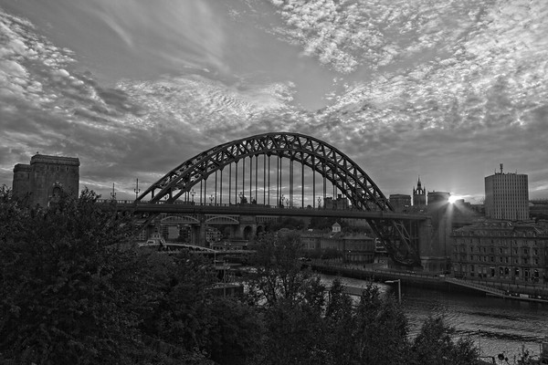 Tyne Bridge Sunset Newcastle-Gateshead Framed Print by Rob Cole