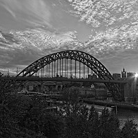 Buy canvas prints of Tyne Bridge Sunset Newcastle-Gateshead by Rob Cole