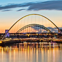 Buy canvas prints of Tyne Bridges Sunset, Newcastle upon Tyne by Rob Cole