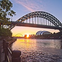 Buy canvas prints of Newcastle Tyne Bridge Sunrise by Rob Cole