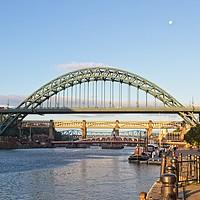 Buy canvas prints of Newcastle Tyne Bridges by Rob Cole
