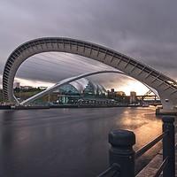 Buy canvas prints of Tilted Millennium Bridge, Newcastle by Rob Cole