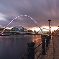 Buy canvas prints of Newcastle Quayside and Millennium Bridge by Rob Cole