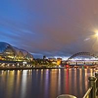 Buy canvas prints of Tyne Bridge and Sage Centre, Newcastle by Rob Cole