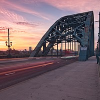 Buy canvas prints of Newcastle Tyne Bridge Sunset by Rob Cole