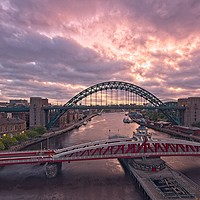 Buy canvas prints of Newcastle Tyne Bridges at Dawn by Rob Cole