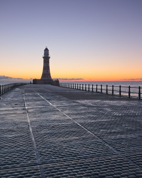Roker Pier and Lighthouse Framed Print by Rob Cole