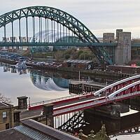 Buy canvas prints of Tyne Bridges, Newcastle by Rob Cole