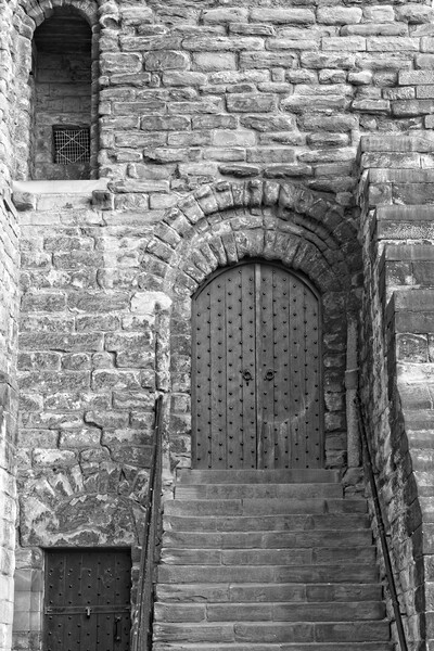 Castle Keep Door, Newcastle Canvas Print by Rob Cole