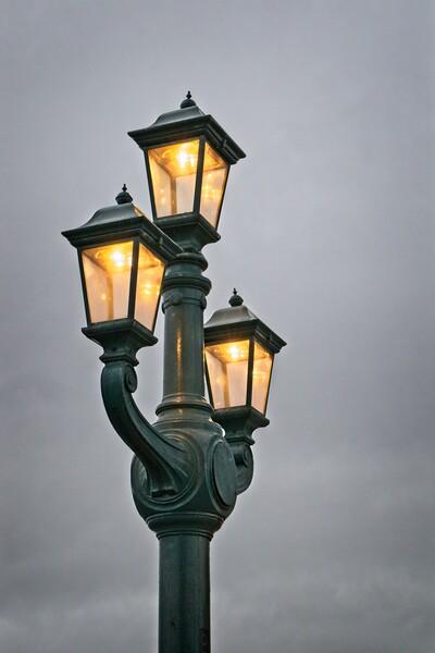 Tyne Bridge Lanterns Print by Rob Cole