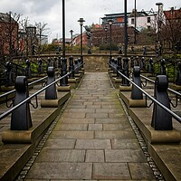 Buy canvas prints of Down to the Quayide, Newcastle by Rob Cole
