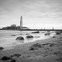 Buy canvas prints of St Mary's Lighthouse, Whitley Bay by Rob Cole