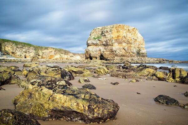 Marsden Rock, Whitburn Acrylic by Rob Cole