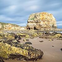 Buy canvas prints of Marsden Rock, Whitburn by Rob Cole