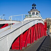Buy canvas prints of The Swing Bridge, Newcastle by Rob Cole