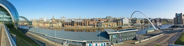 Newcastle-Gateshead Panorama Framed Mounted Print by Rob Cole