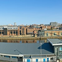 Buy canvas prints of Newcastle-Gateshead Panorama by Rob Cole