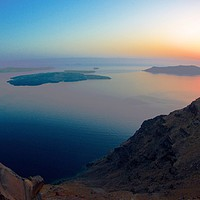 Buy canvas prints of Sunset over Santorini by Neil Gratton