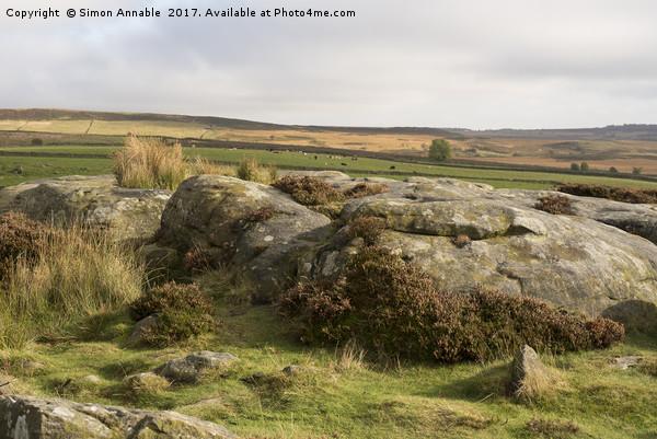 Derbyshire Peak District Canvas print by Simon Annable