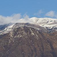 Buy canvas prints of snowy mountain by Ornella Bonomini