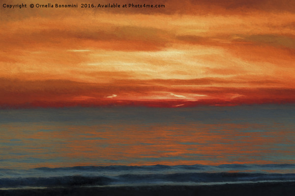 sunset at sea Canvas print by Ornella Bonomini