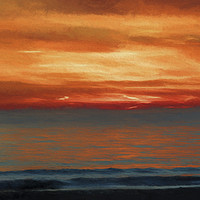 Buy canvas prints of sunset at sea by Ornella Bonomini