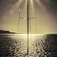 Buy canvas prints of sail boat on lake by Ornella Bonomini