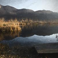 Buy canvas prints of landscape lake by Ornella Bonomini