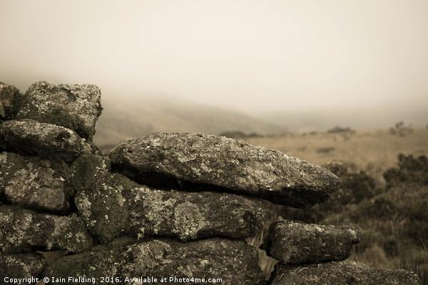Moorland Stone Wall Canvas print by Iain Fielding