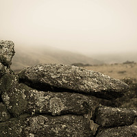 Buy canvas prints of Moorland Stone Wall by Iain Fielding