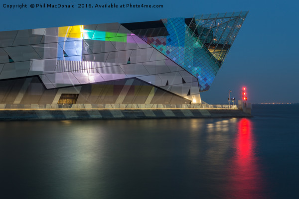 The Deep in Hull, Test Screen on the Humber Framed Print by Phil MacDonald