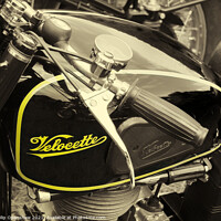 Buy canvas prints of velocette m series vintage motorcycle by Philip Openshaw