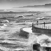 Buy canvas prints of Storm Force Scarborough by John Potter