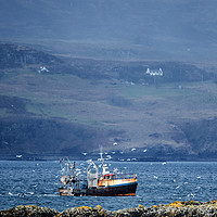 Buy canvas prints of Fishing Boat by Kevin White