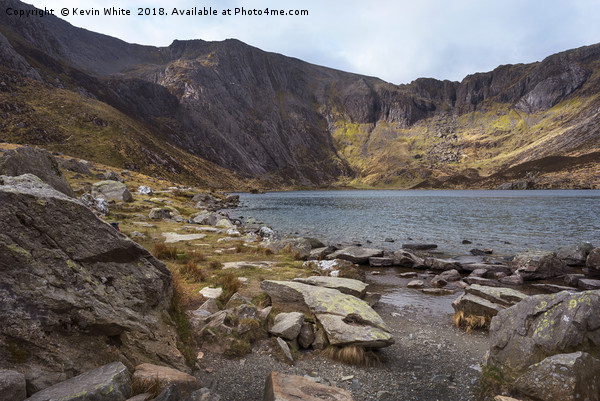 Resting by Lake Idwal Print by Kevin White