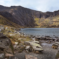 Buy canvas prints of Resting by Lake Idwal by Kevin White
