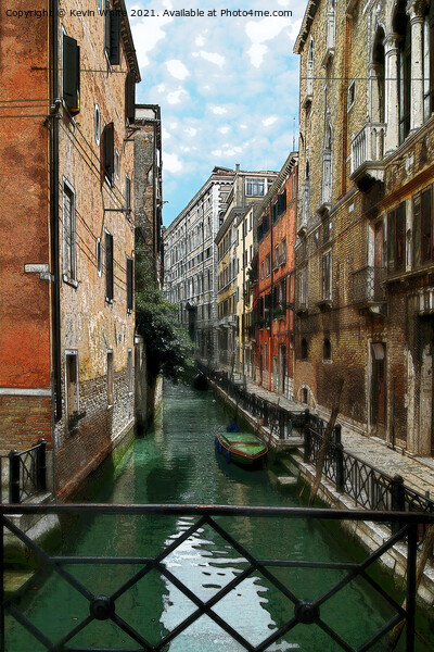 brush strokes of Venice Print by Kevin White