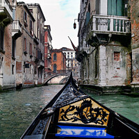 Buy canvas prints of Canal trip through Venice by Kevin White