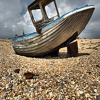 Buy canvas prints of Old Dungeness Fishing Boat by Peter Hatter