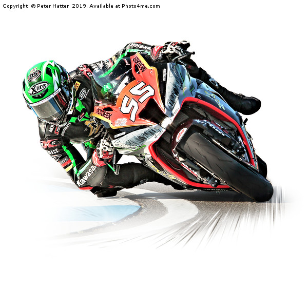 Motorcycle Racing Canvas print by Peter Hatter
