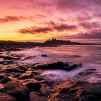 Buy canvas prints of Last Light at Dunstanburgh by Gary Clarricoates