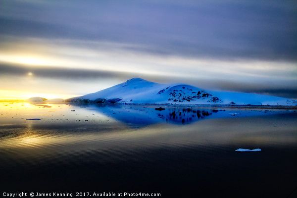 Antarctic sunset from the Lemaire Channel Canvas Print by James Kenning