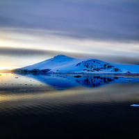 Buy canvas prints of Antarctic sunset from the Lemaire Channel by James Kenning